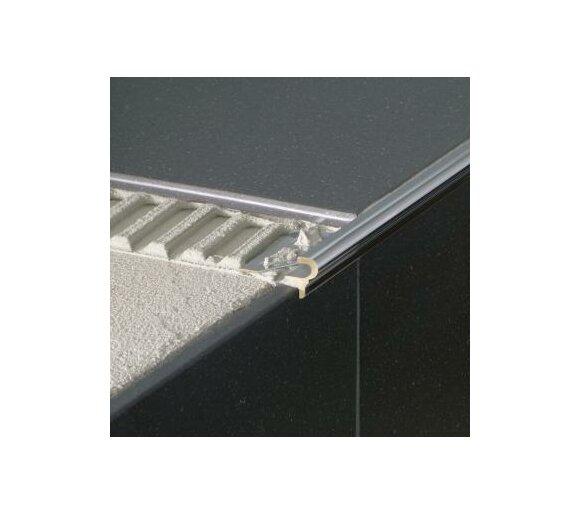 Deko-Stufenkante Florentiner, Aluminium, silber matt eloxiert, 12,5mm/1,25m