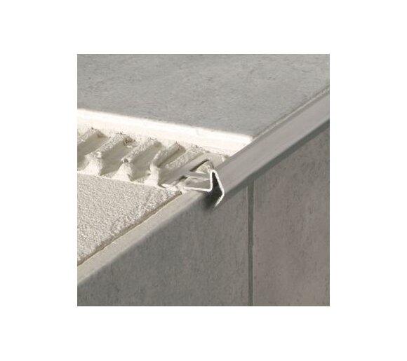 Deko-Stufenkante Modern, Edelstahl, 12,5mm/2,5m