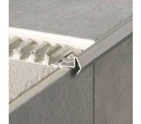 Deko-Stufenkante Modern, Edelstahl, poliert, 12,5mm/1m
