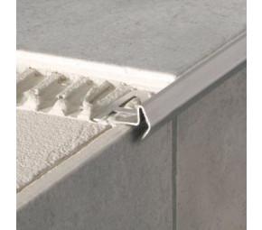 Deko-Stufenkante Modern, Edelstahl, poliert, 12,5mm/1,25m